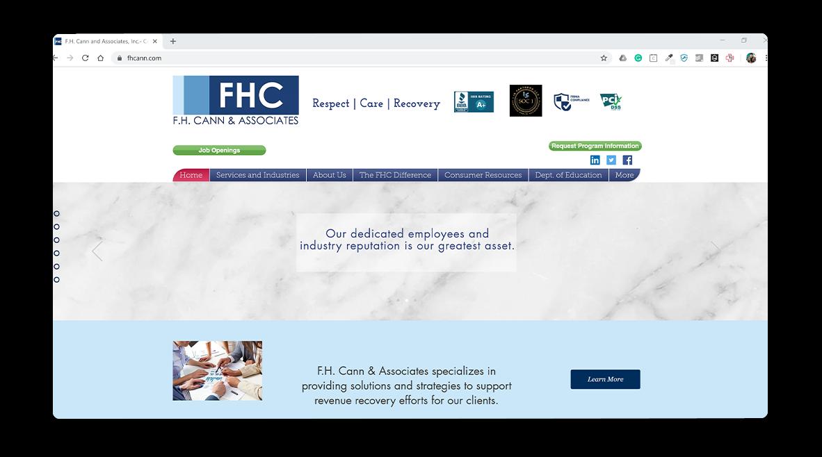 FH Cann homepage