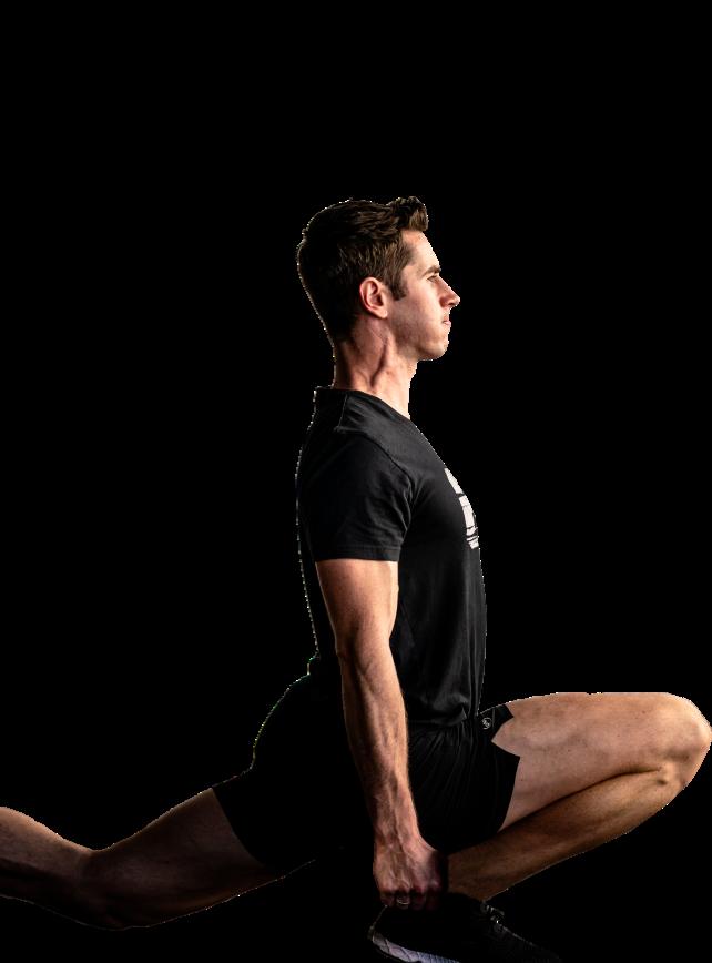 Ben Patrick doing an ATG split squat exercise