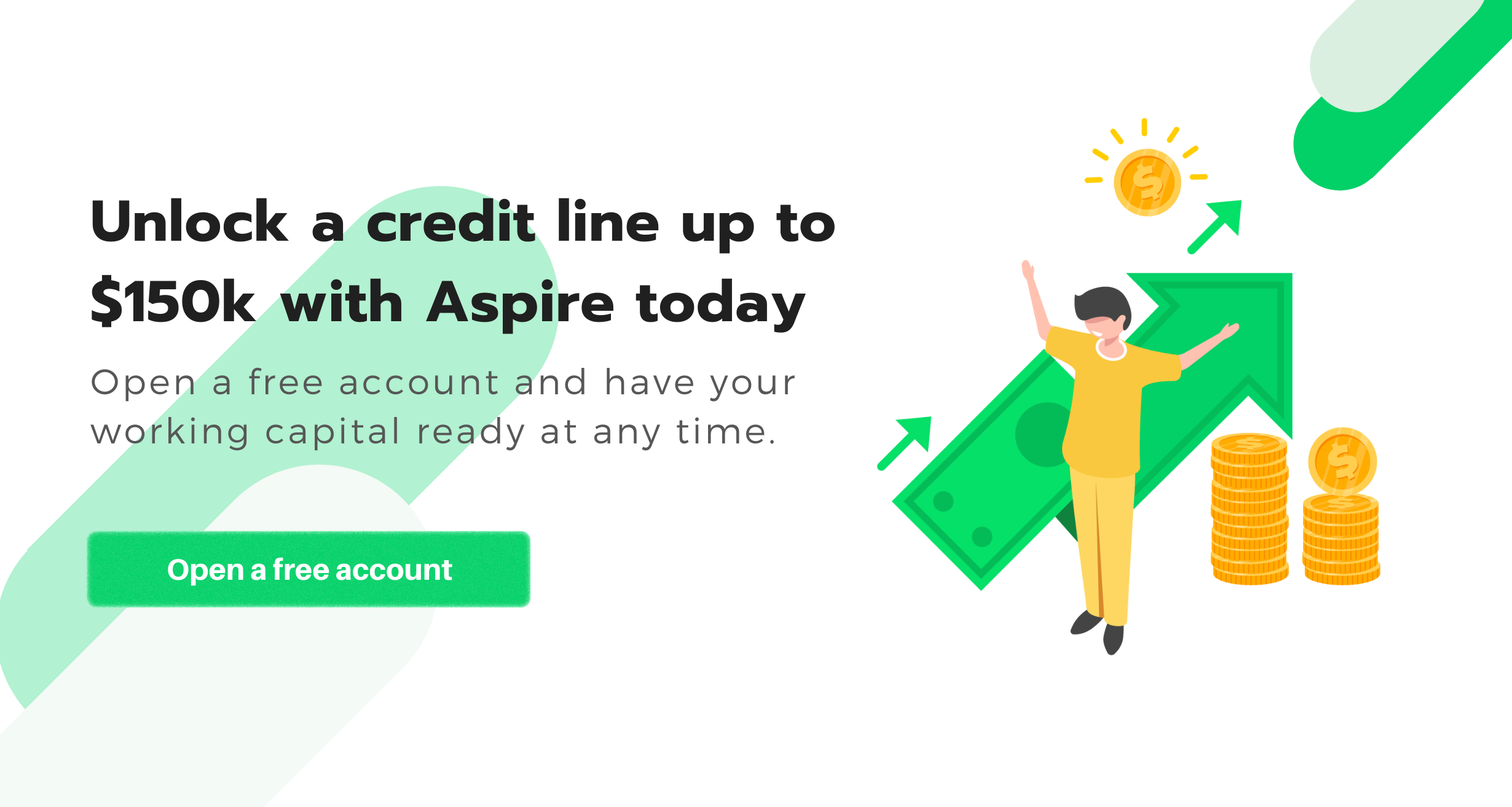 Unlock a credit line up to $150k with Aspire Today