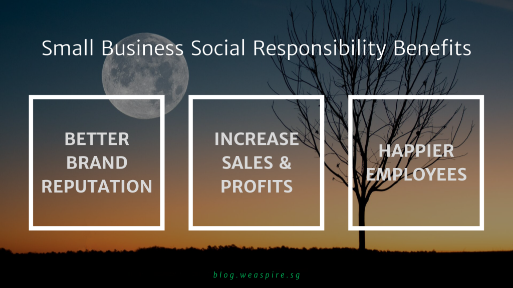 BENEFITS of Small Business Social Responsibility