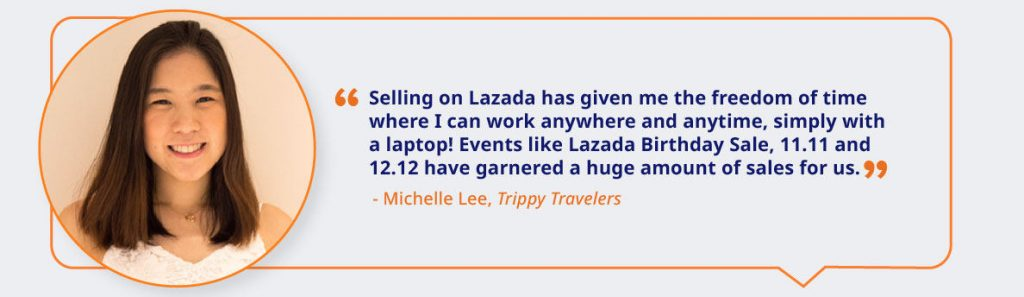e-commerce Lazada's seller testimonial on events