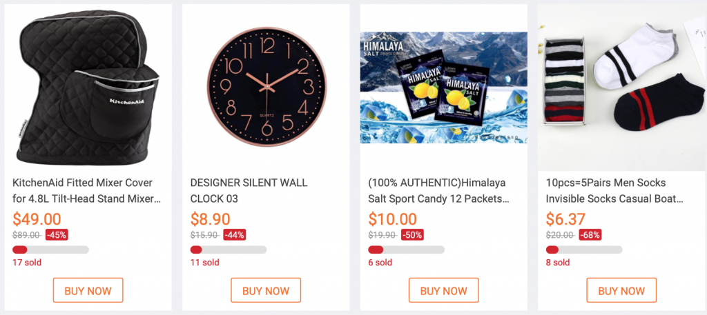 Registered products for flash deal for 11.11 singles day