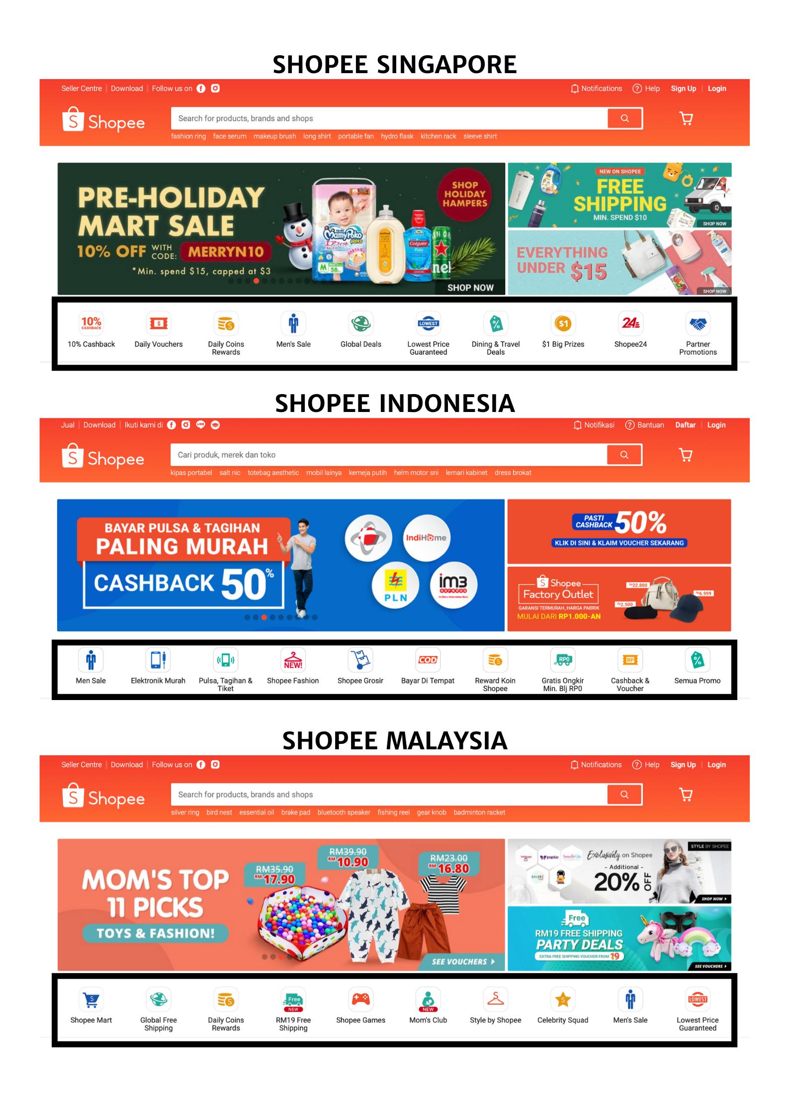 Shopee Singapore Indonesia Malaysia