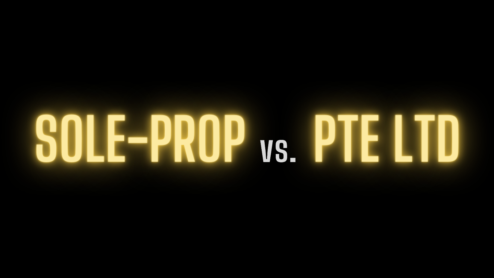 Sole Proprietorship vs. Private Limited (Pte. Ltd.) Company: The Differences
