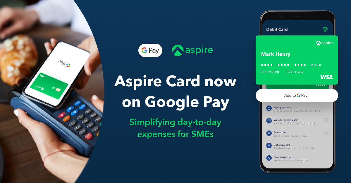 Aspire card now on Google Pay