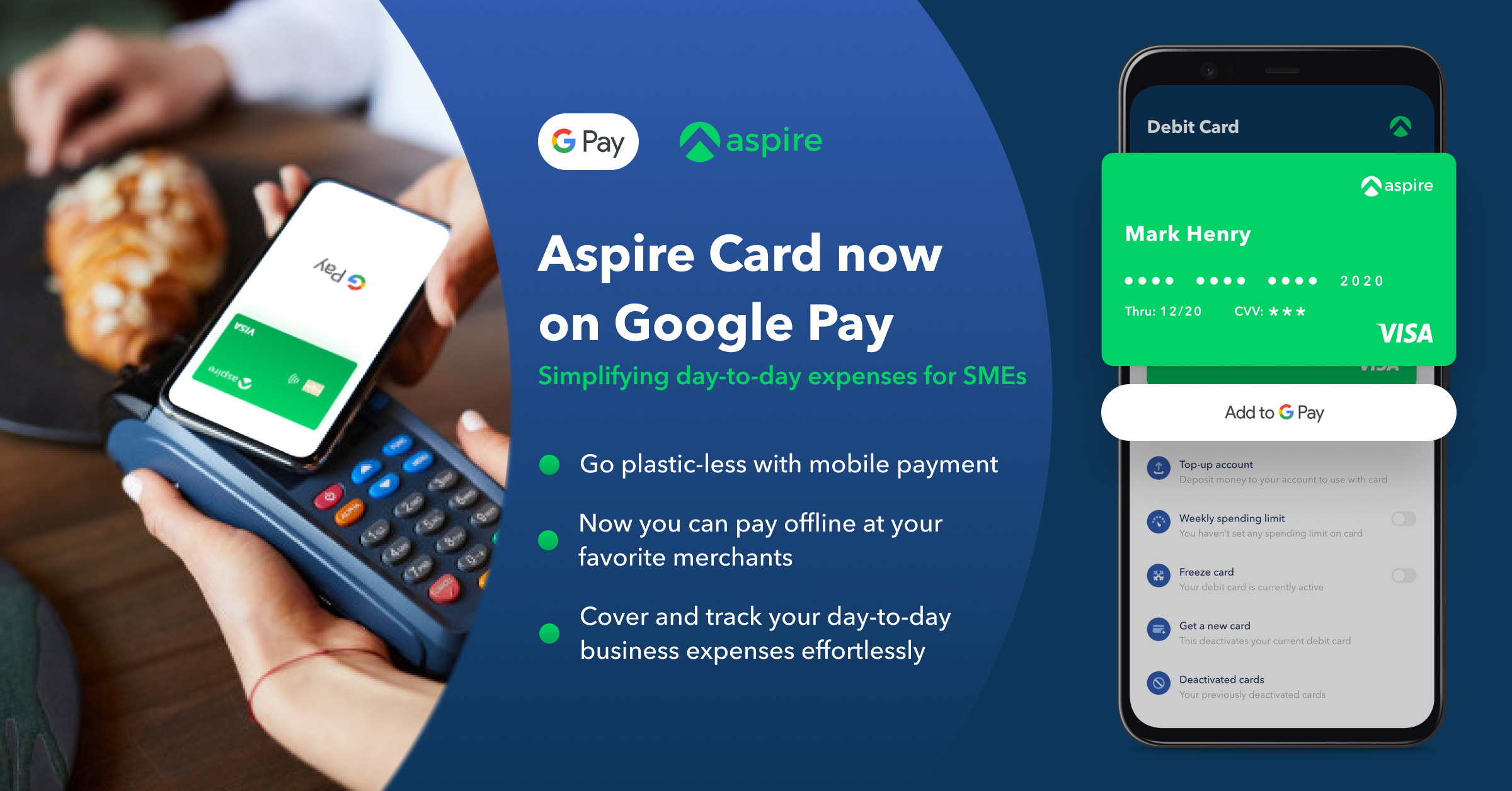 Aspire, the 1st Business Neobank in Southeast Asia, to make its cards available on Google Pay