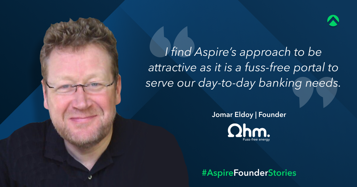jomar eldoy managing director and founder of ohm energy with aspire