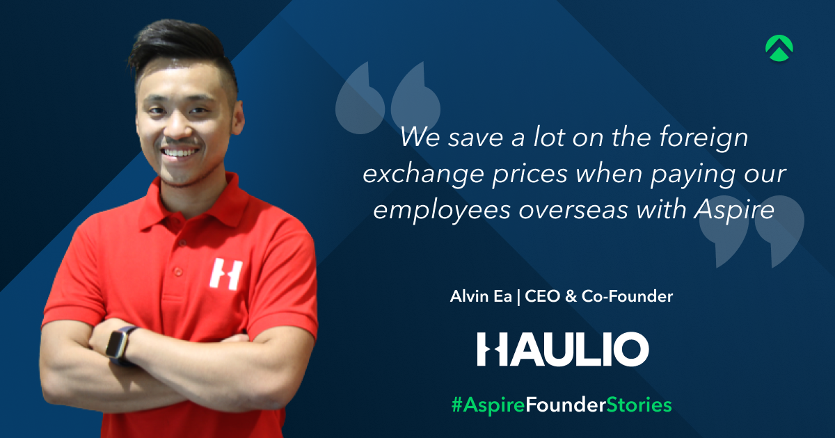 Haulio founder Alvin Ea talks about his positive review using Aspire Business Account