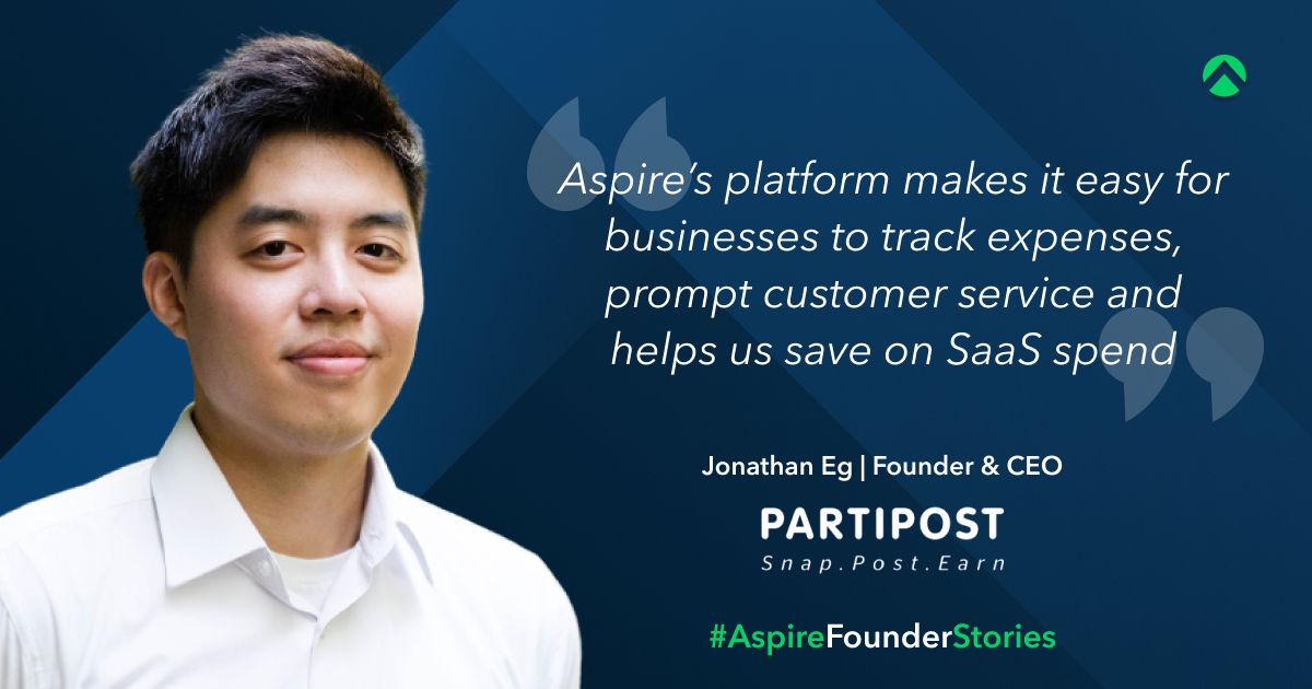 Jonathan EG CEO and Founder of Partipost testimonials on Aspire