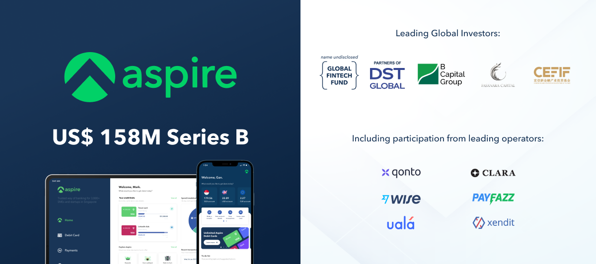 Aspire raises US$158 Million series B round to double down on its All-in-one Finance OS for growing businesses in South East Asia
