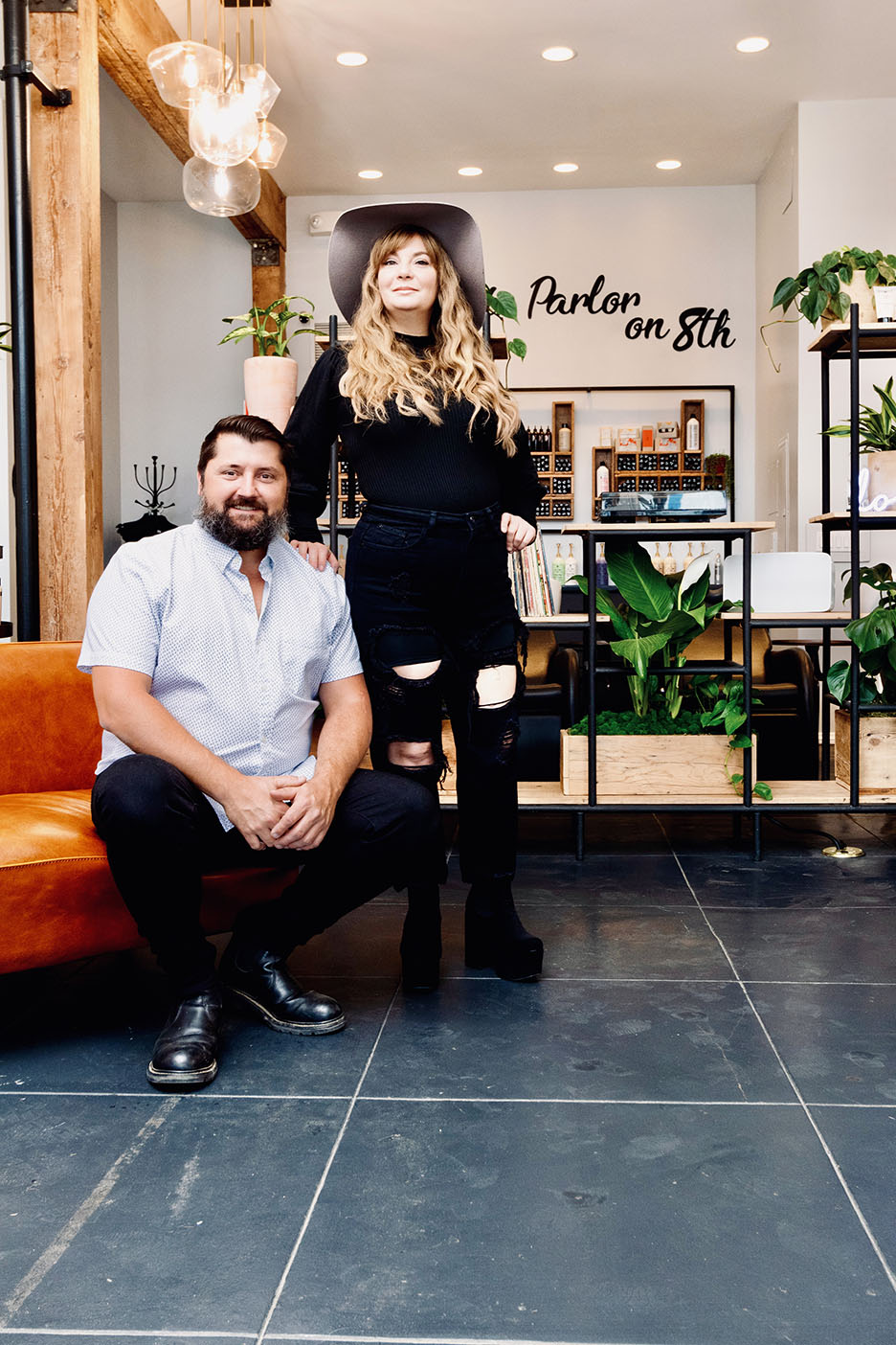 Sophie and Andrew Davies at The Hair Parlor On 8th in Los Angeles
