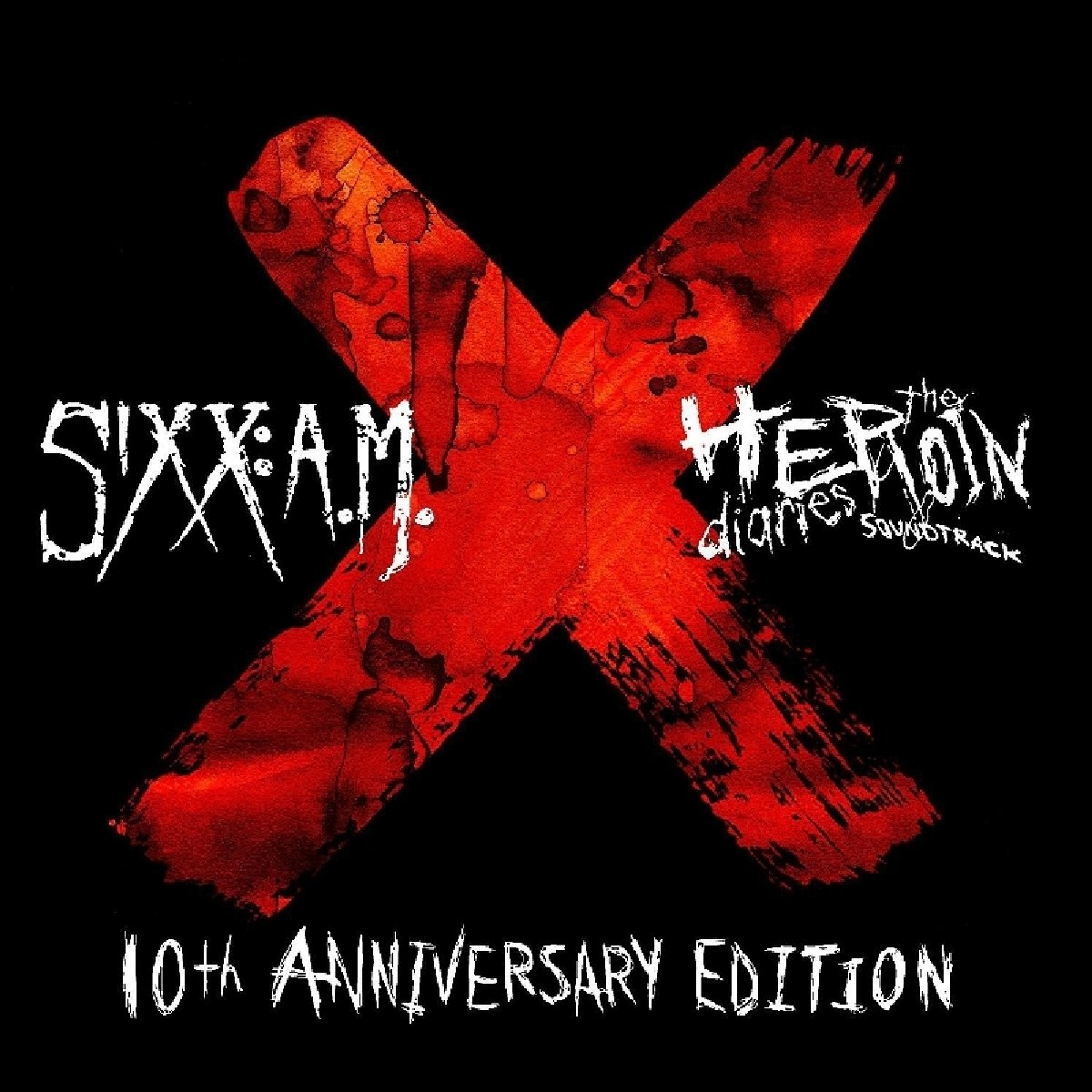 Sixx:A.M. – The Heroin Diaries Soundtrack Limited Edition 10th Anniversary Edition Red & Black Marbled Vinyl