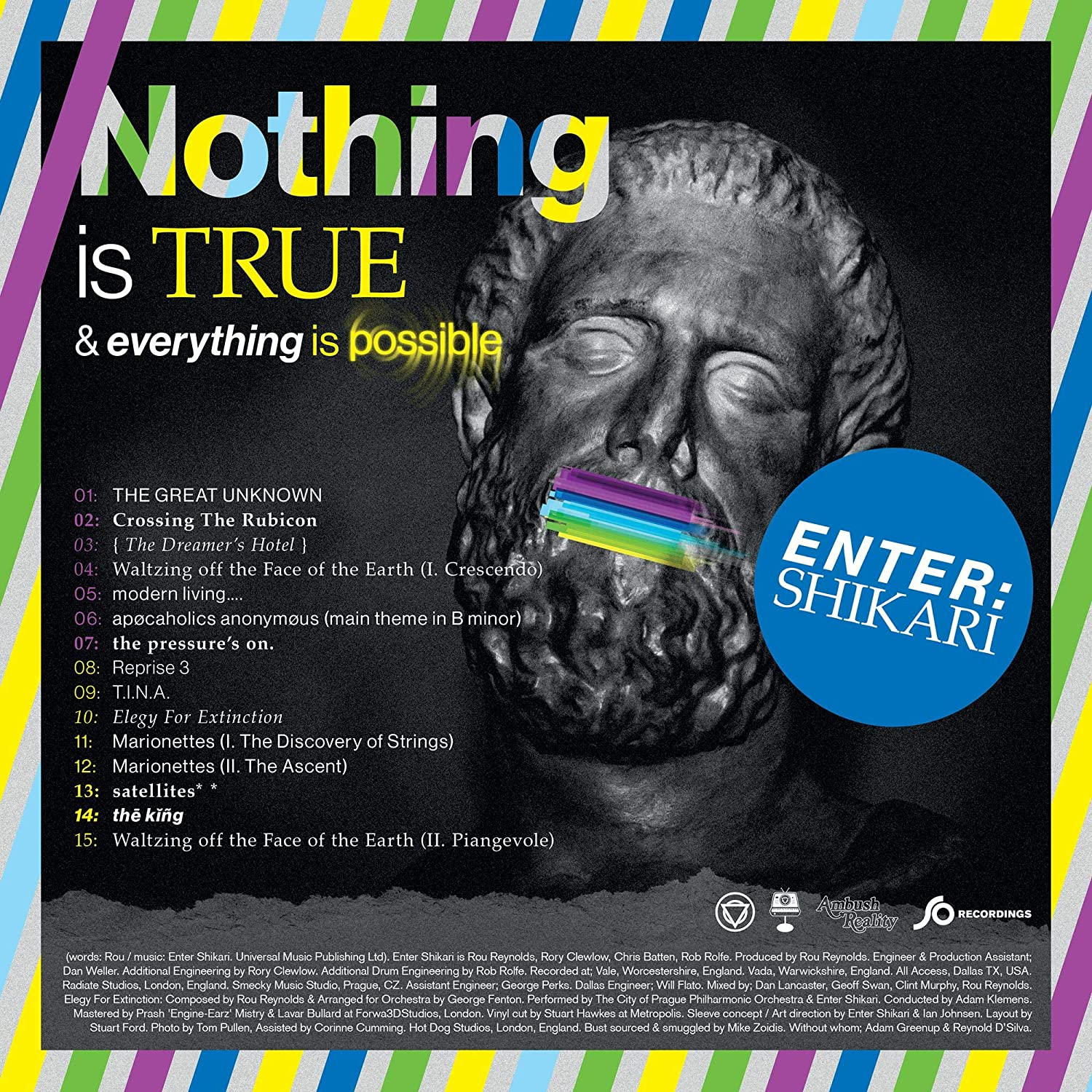 Enter Shikari – Nothing Is True Everything Is Possible Limited Edition Indie Exclusive Clear W/ Green Purple Splatter Vinyl 1000 Made