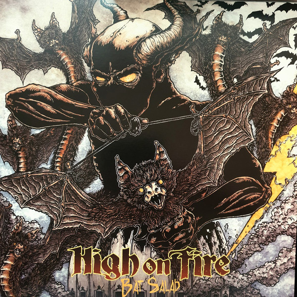 High On Fire – Bat Salad Limited Edition Clear With Black & Green Splatter Vinyl RSD 2019 2700 Made