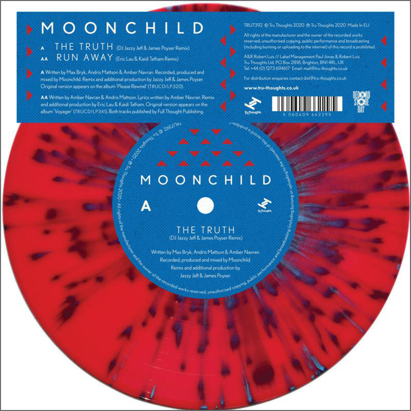 "Moonchild - The Truth (DJ Jazzy Jeff & James Poyser Remix)"" / ""Run Away (Eric Lau & Kaidi Tatham Remix)"