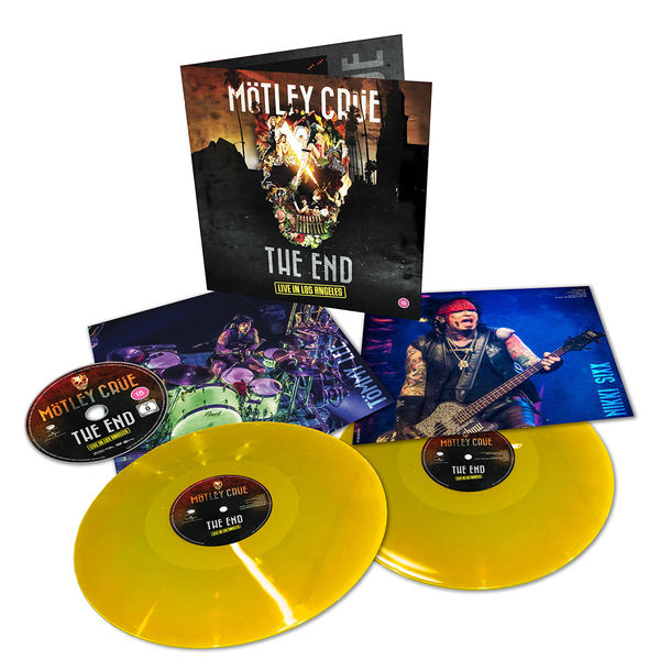 Motley Crue - The End Live In Los Angeles Limited Edition Double Yellow Gatefold Vinyl + DVD