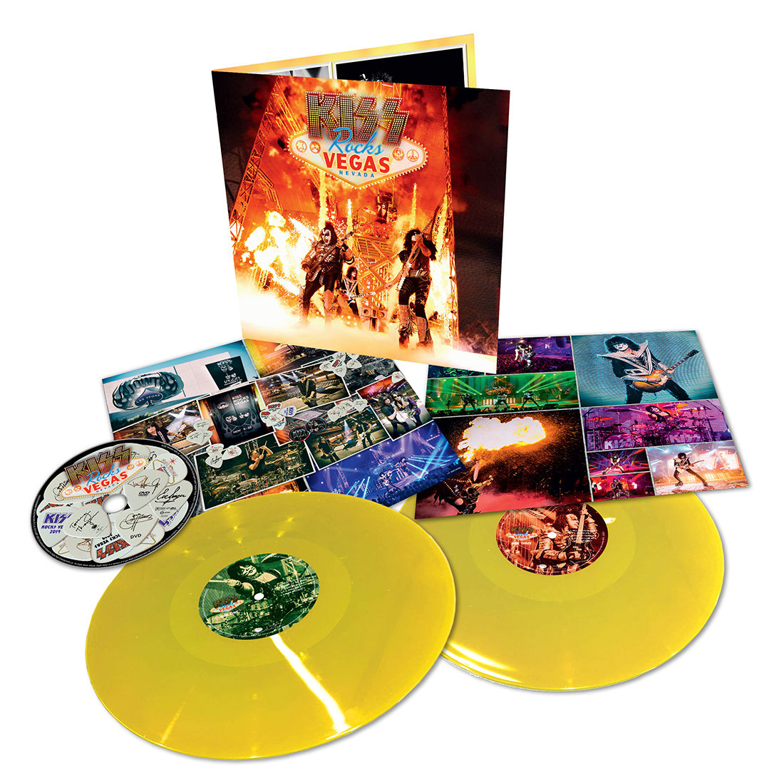 Kiss - Rock Vegas Limited Edition Yellow Vinyl + DVD