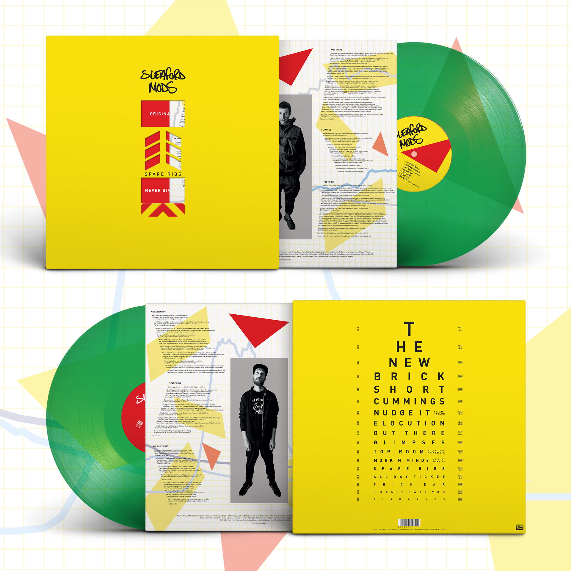 Sleaford Mods - Spare Ribs Limited Edition Green Vinyl
