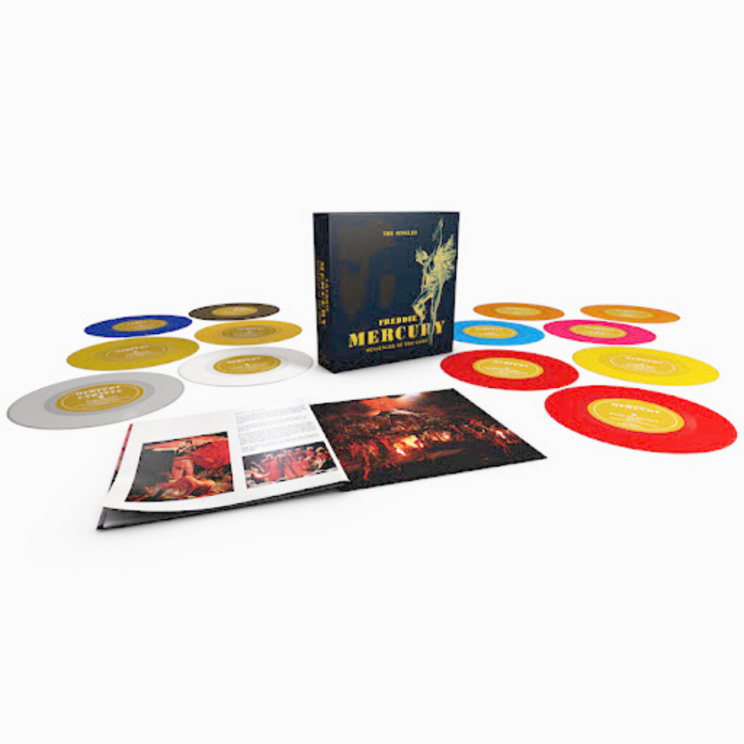 """Freddie Mercury - Messenger of the Gods The Singles Limited Edition Coloured 7""""x13 Box Set"""