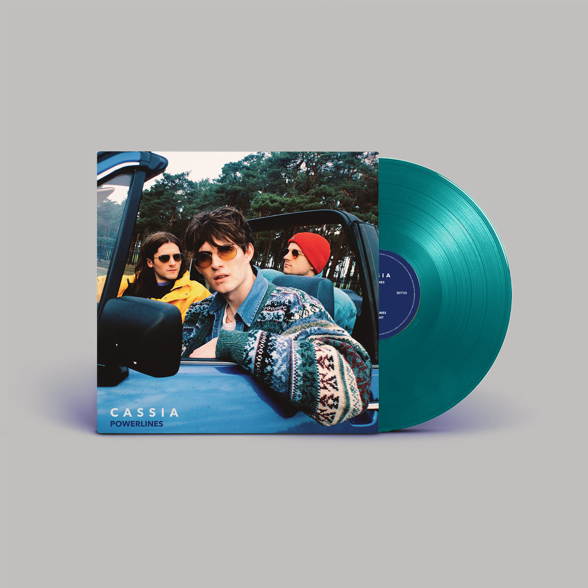 """Cassia - Powerlines Limited Edition 10"""" Turquoise Vinyl"""