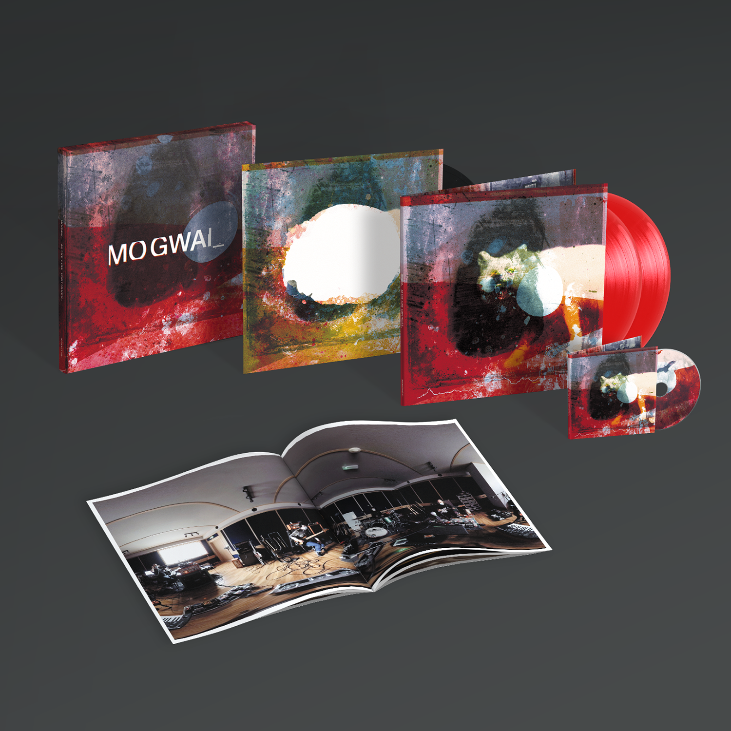 """Mogwai - As the Love Continues Limited Edition 2LP+12"""" Red Vinyl Box Set + CD and Photo Booklet"""