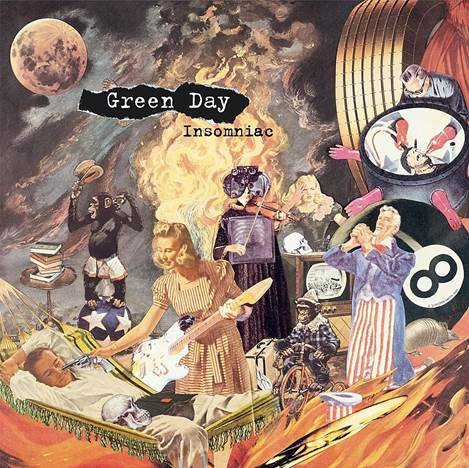 Green Day - Insomniac 25th Anniversary Edition 2LP Etched D-Side