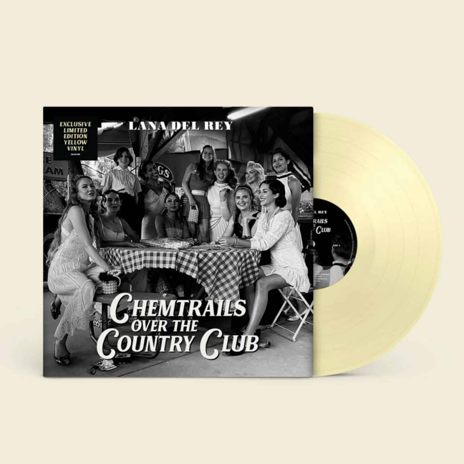 Lana Del Rey - Chemtrails Over The Country Club Limited Edition Indies Exclusive Yellow Vinyl