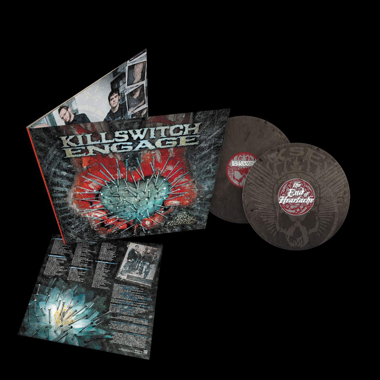 Killswitch Engage - The End of Heartache Limited Edition Silver and Black Swirl Vinyl 2LP + Etched D-Side