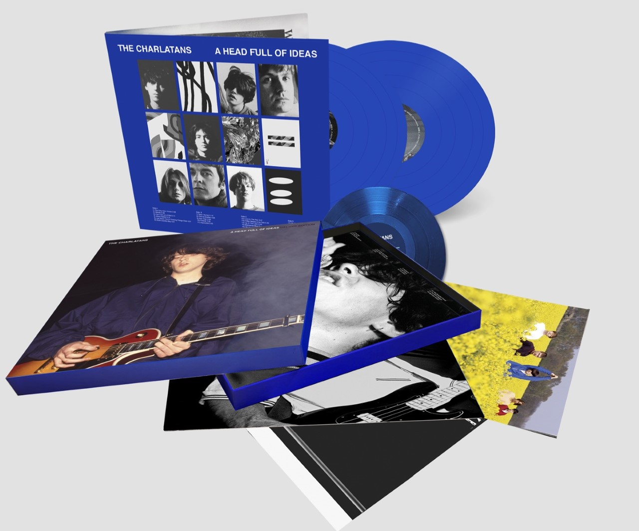 The Charlatans - A Head Full Of Ideas 30th Anniversary Vinyl Boxset, SIGNED Exclusive Poster, 12 Page Fan Booklet, Limited Transparent Blue Vinyl