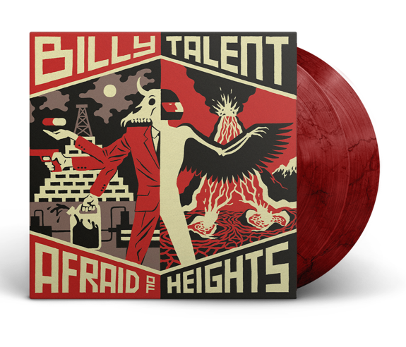 Billy Talent - Afraid Of Heights Limited Edition Bloody Mary Coloured Vinyl 3000 Made