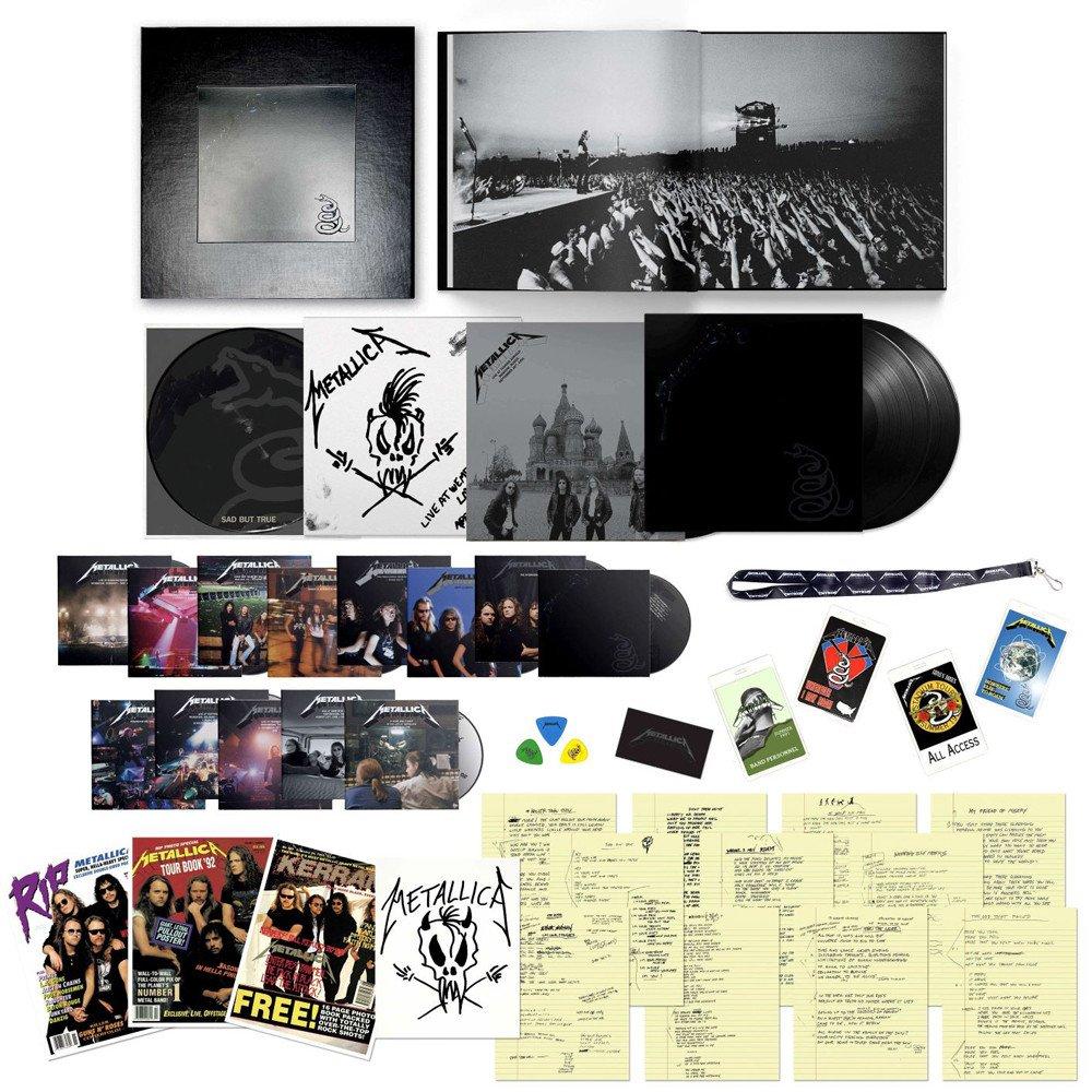 Metallica - The Black Album (Remastered) Super Deluxe Box Set 6LP, 14CD, 6 DVDs + 120 Page Book