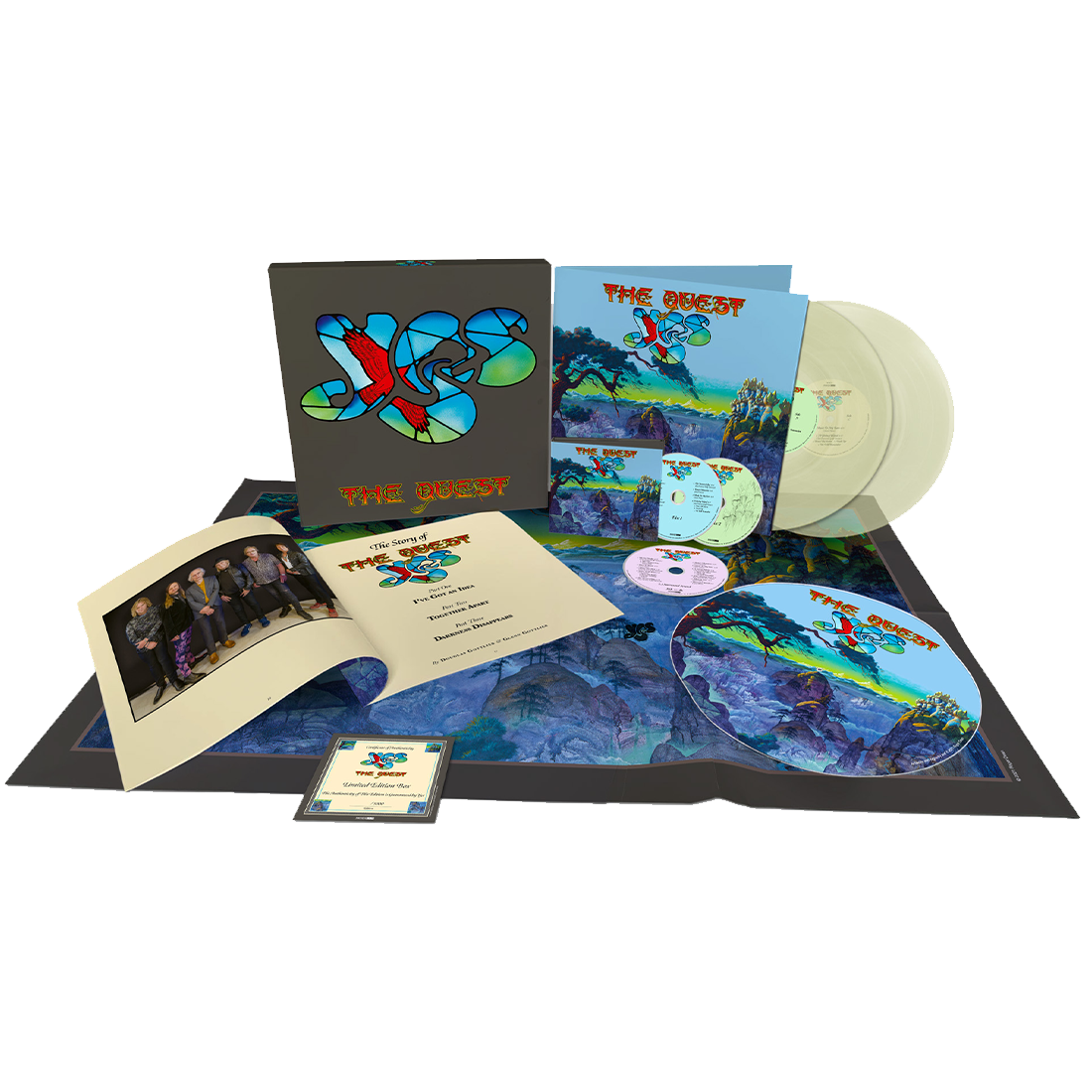Yes - The Quest Limited Edition Deluxe Box Set Glow in the Dark 2LP + 2CD + Blu Ray
