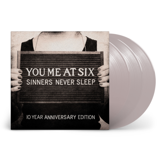 You Me At Six - Sinners Never Sleep 10th Anniversary Edition Silver 3LP Vinyl