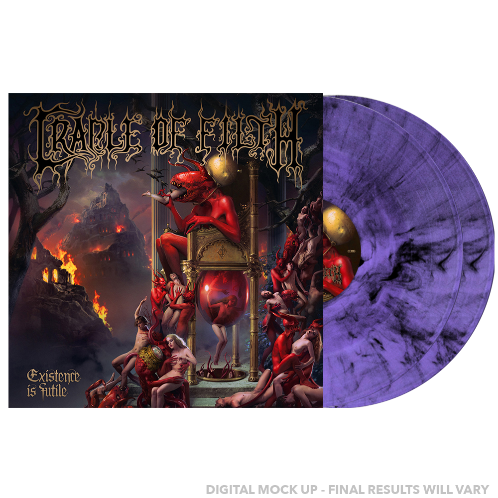 Cradle Of Filth - Existence is Futile Limited Edition Purple / Black Marbled Vinyl 600 Made