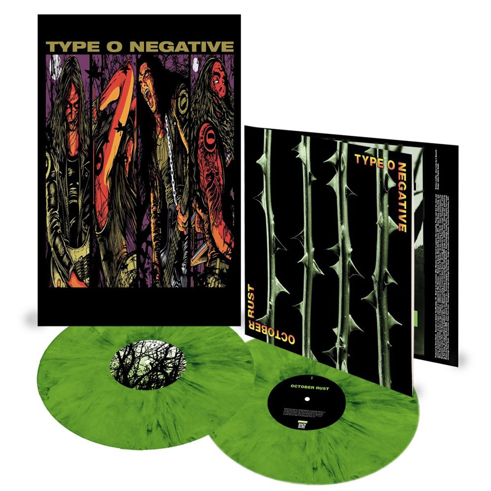Type O Negative - October Rust Limited Edition Black and Green Mixed 2LP Vinyl