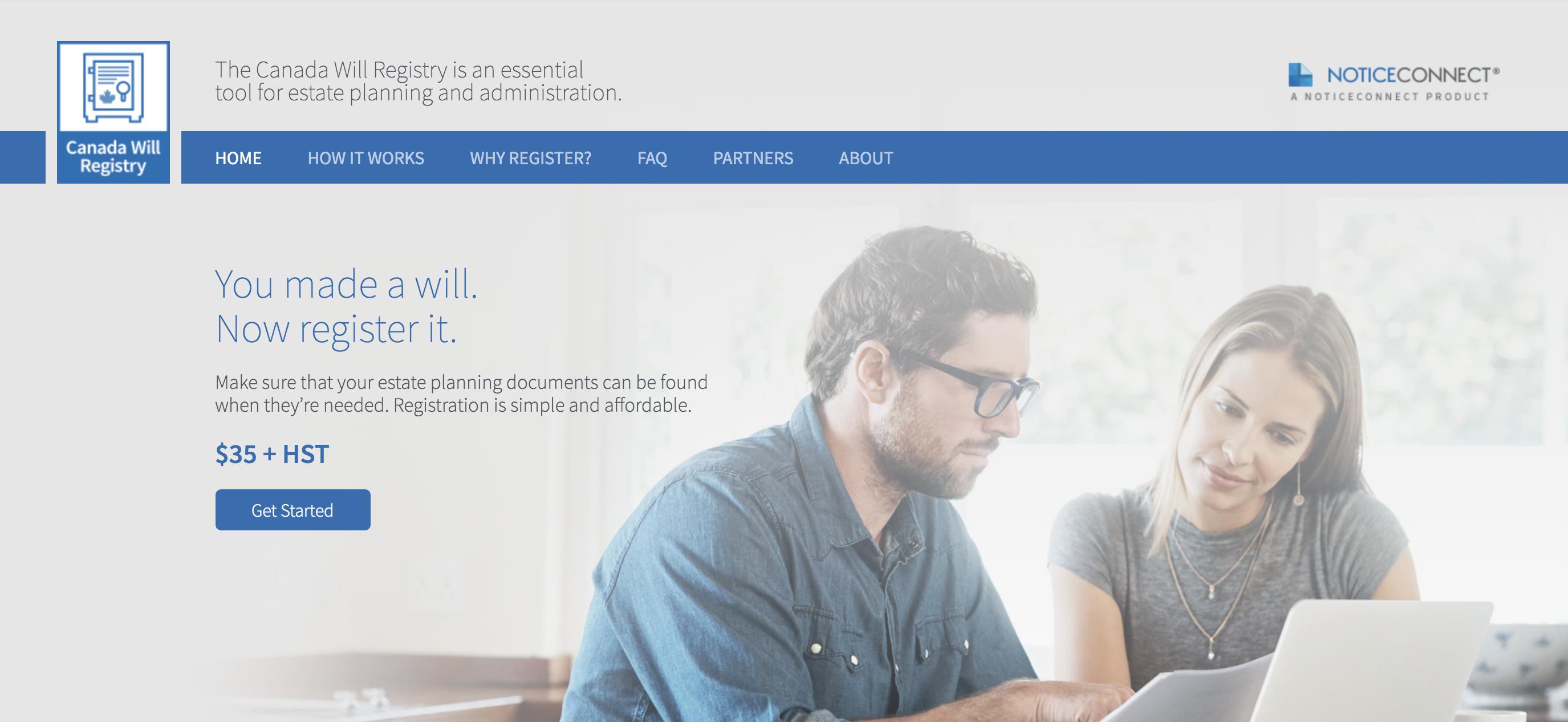 Canada Will Registry - Register Your Will