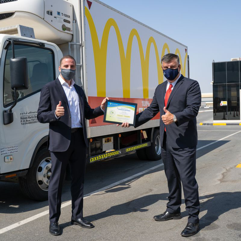 Walid Fakih General Manager Emirates Fast Food Company (McDonald's UAE) and Karl W. Feilder Founder CEO & Chairman at Neutral Fuels