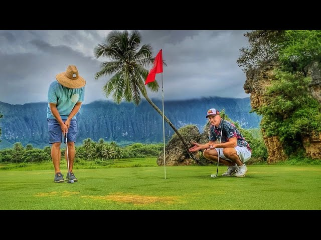 Can I Beat Ryan With 1 Club? | Golfing At Olomana Golf Club In Hawaii