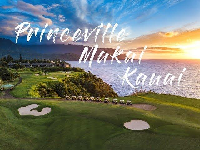 KAUAI HAWAII, DRONE FOOTAGE Princeville Makai Golf Course