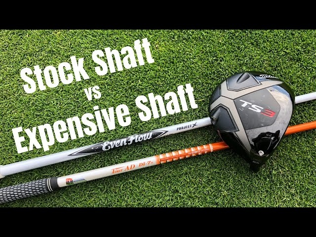 Stock Driver Shaft vs Expensive Up-charge Driver Shaft - Using Titleist TS3 Driver