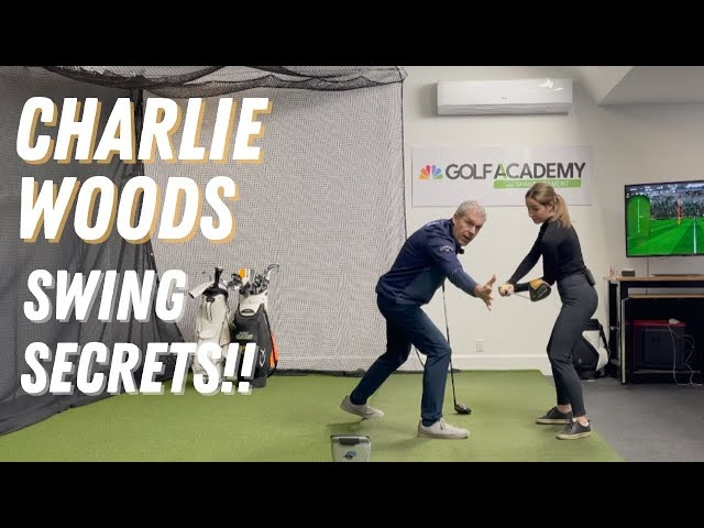 CHARLIE WOODS AWESOME GOLF SWING TECHNIQUE! BETTER THAN WE EXPECTED!