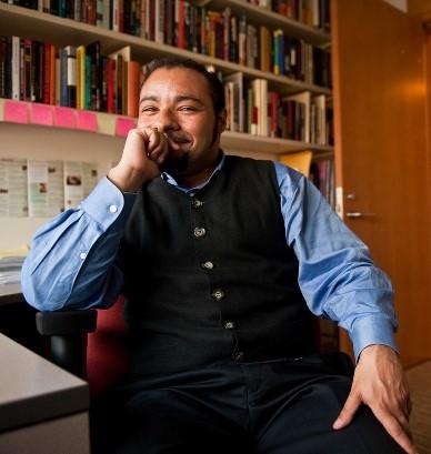 Dr. Stephan Pennington, speaker, at Zeiterion's Cinema New Bedford