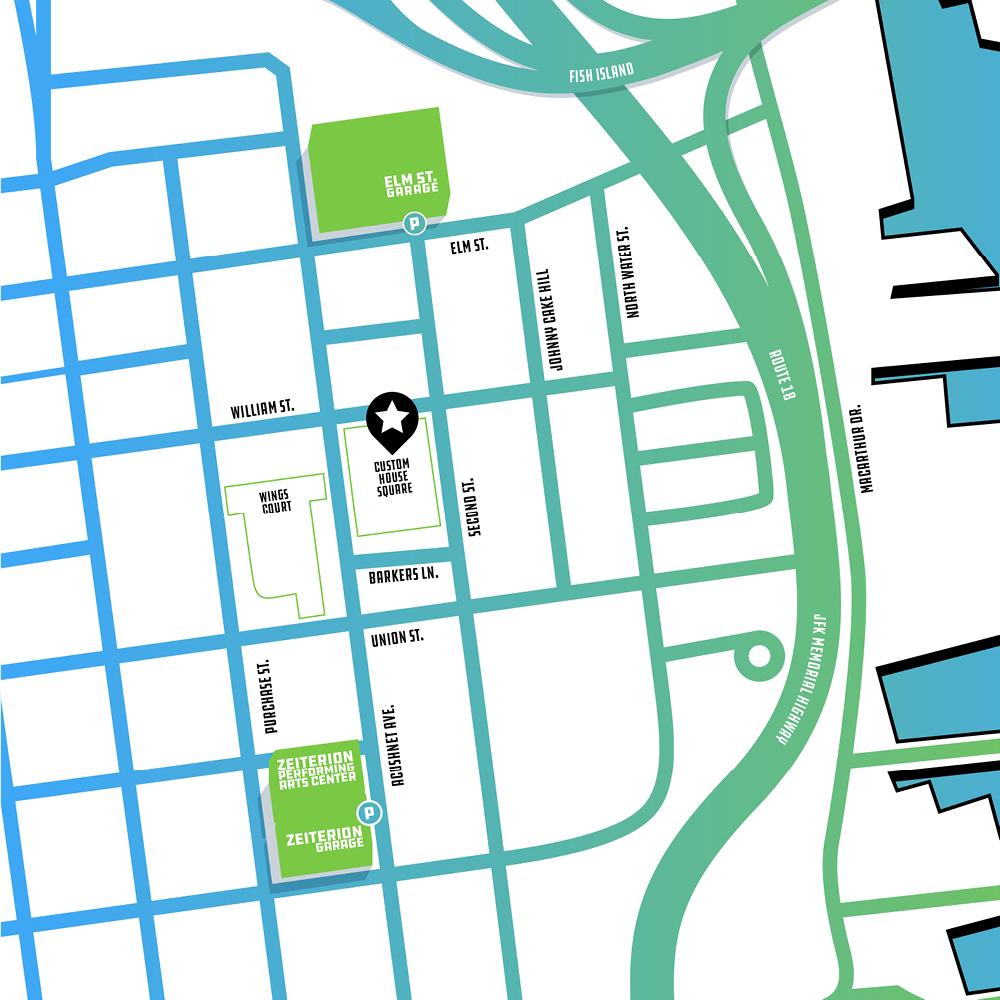 Custom House Square map