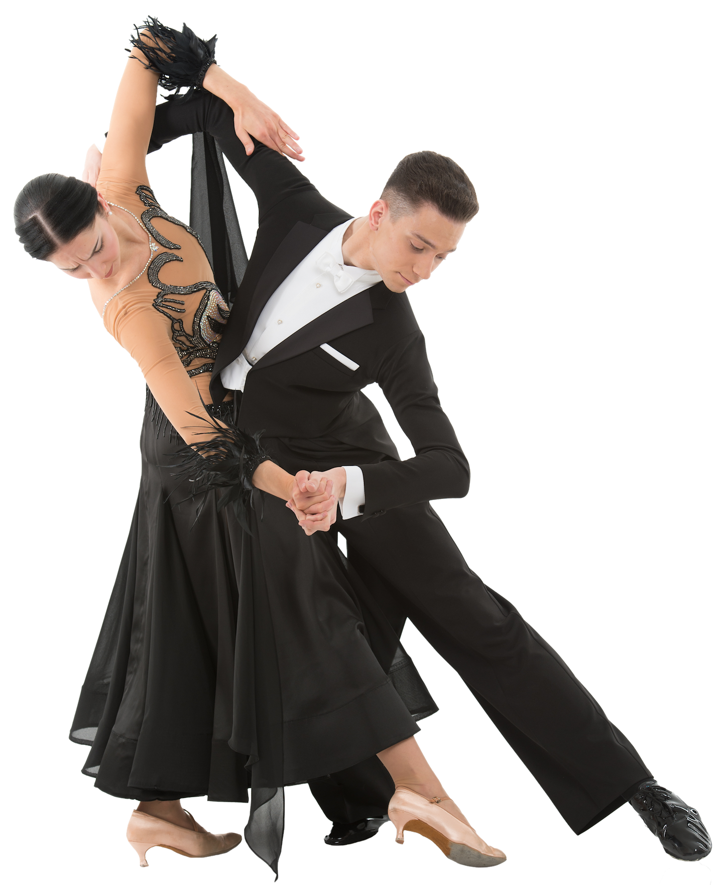 couple dancing ballroom in dance costumes