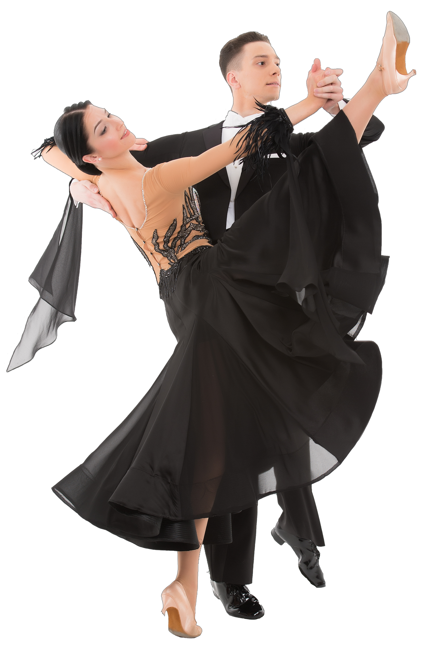 couple dancing ballroom in dance costumes
