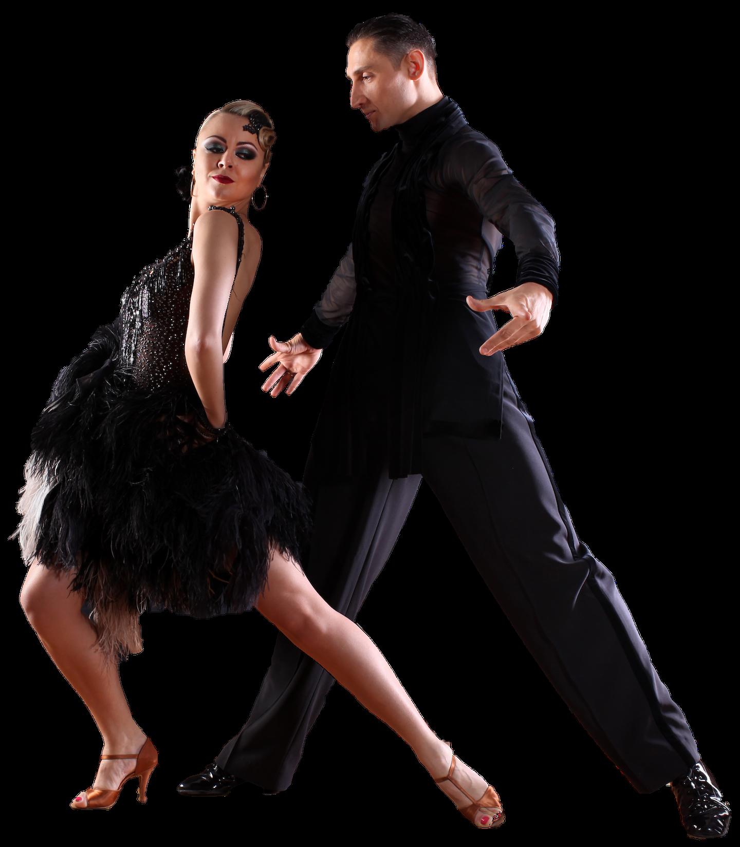 couple dancing latin american dances in dance costumes