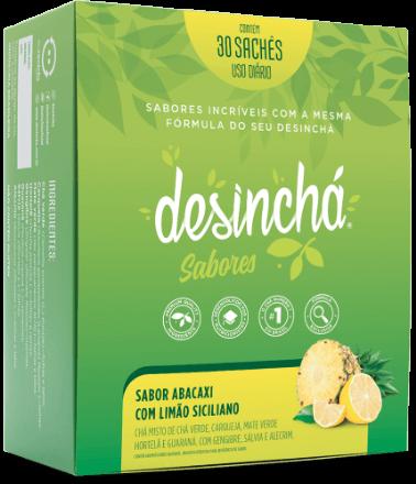 Desinchá Sabores - Abacaxi com Limão Siciliano (30 sachês)