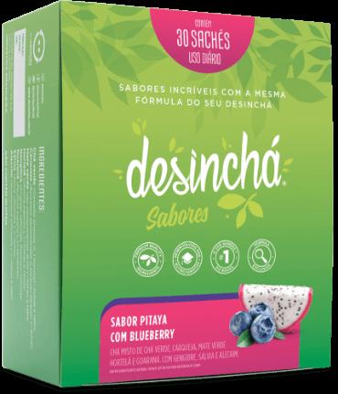 Desinchá Sabores - Pitaya com Blueberry (30 sachês)
