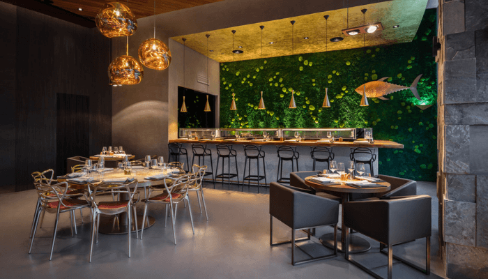 restaurant interior design in Dubai - 99 Sushi BAR
