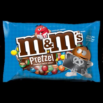 Bonbons croquants aux bretzels. Seuls les plus petits bretzels sont acceptés dans ces friandises multicolores !